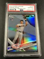 AARON JUDGE 2017 TOPPS CHROME #169 REFRACTOR ROOKIE RC PSA 10 YANKEES (C)
