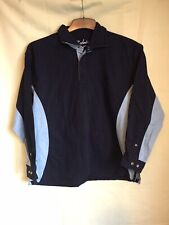 Rydale Unisex Navy Blue Cotton Long Sleeve Jacket With Neck Zipper 20 (416)