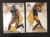 Chase Claypool 2020 Mosaic Base And NFL Debut Rookie Card Steelers