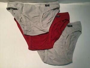 Jockey Elance 3-Pack// of Men/'s 100/% Cotton Bikini Briefs Medium 32-34 Inch
