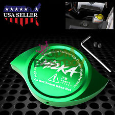 Green Billet Aluminum Radiator Protector Pressure Cap Cover Car High Performance