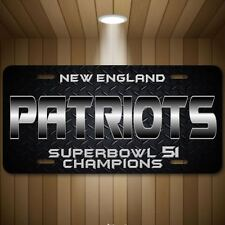 New England PATRIOTS Football NFL Superbowl 51 Champions Auto License Plate Tag