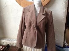 👀** PER UNA @ M&S UK 16 (EU44) Beige Cord Floral Lined Jacket VGC-