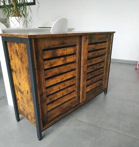 Vintage Industrial Sideboard Storage Cabinet Cupboard Console Table Rustic Metal