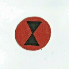 Pre-WW2 US 7th Infantry Division Red Wool Shoulder Patch Insignia