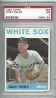 1964 Topps baseball card #66 Eddie Fisher, Chicago White Sox graded PSA 7