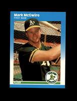 1987 Fleer Baseball #U-76 Mark McGwire RC Rookie (A's) NM-MT
