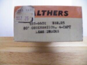 Walther's Observation 4-cmpt Car Plan Craftsman kit HO scale #6601 No trucks #B