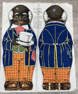 "Antique Uncle Mose UNCUT Com.1900s Printed on Cloth Rag Doll Primitive 16"""