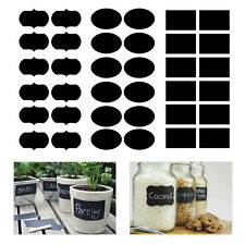 36x 3 Shape Chalkboard Blackboard Chalk Board Stickers Decals Jar Labels Craft