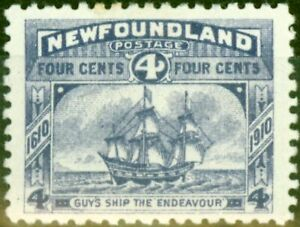 Newfoundland 1910 4c Violet SG98 Fine Mtd Mint