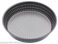 Masterclass Perforated Crusty Bake 23cm Non Stick Deep Round Quiche / Pie Dish