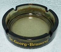 Vintage St. Georg Brauerei Neukirchen Glass Ashtray in Great Condition