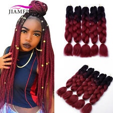 """24"""" Two Tone Jumbo Braiding Synthetic Hair Extensions for Twist Braids 5pcs/pack"""