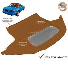 Mazda Miata 1990-2005 Convertible Soft Top With Plastic Window Tan Cabrio