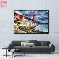 Canvas print wall art big poster home decor san Francisco golden gate bridge