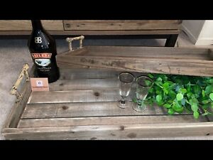 Rustic Tray Set IDEAL FOR THOSE Special Occasions - Mother Day Gifts