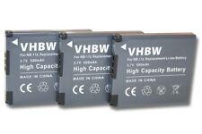 3x BATTERIA NB-11L PER CANON PowerShot A2300,A2400 IS,A2500