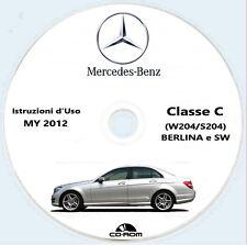 Mercedes-Benz Classe C (W204+S204) 4 Matic,modello 2012,Istruzioni d'Uso ITA