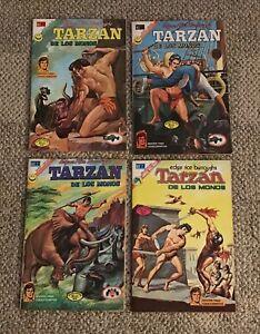TARZAN DE LOS MONOS  LOT OF 4 DIFF  COMIC BOOKS  MEXICO  SPANISH EDS 1972-73
