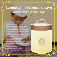 Protable Bluetooth Quran Speaker Coran Player Smart Touch LED Lamp Light Remote