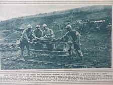 1916 FRENCH LIGHT RAILWAY FIELD AMBULANCE STRETCHER CASUALTY; ARTILLERY WWI WW1