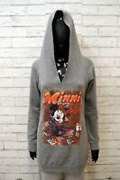 DISNEY Felpa Grigia Maglione Taglia M Cardigan Donna Pullover Sweater Woman
