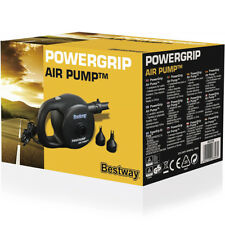 BESWAY POWERGRIP ELECTRIC AIR PUMP INFLATE DEFLATE POOL SPA INFLATABLE AIR BED