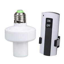 LCD Screw Wireless Remote Control Light Lamp Bulb Holder Cap Socket Switch
