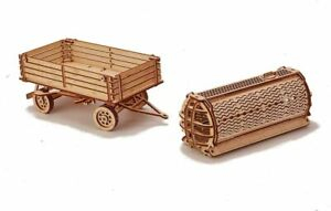 Wood Trick Trailer For Tractor Wooden Mechanical Model