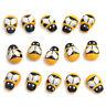 50/100PCS/Lot-Mini Bee Wooden Ladybug Sponge Self-adhesive Stickers Kids Toys