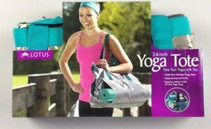 """Lotus 24"""" Yoga Mat Tote Carrying bag chevron NIP NWT $29.99 GREAT GIFT"""