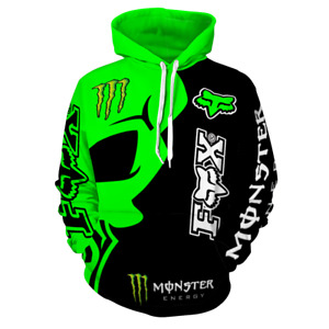 Monster Style Hoodie Hooded Mens Adults Pullover Jumper Warm Classic Unisex