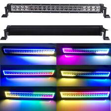 "12""-52"" INCH 4D LED Light Bar Combo RGB Halo Chasing Rock Strobe Flash Bluetooth"
