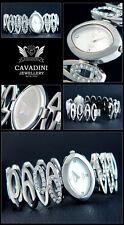 SPECIALE FORMA Ladies OVAL Designer CAVADINI Orologio con Imitazione pietre