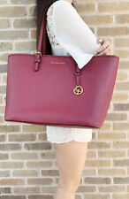 Michael Kors Jet Set Large Multifunctional Carryall Tote Mulberry
