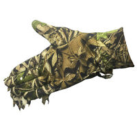 3D Sneaky Leaf Ghillie Gloves Jungle Woodland Stealth Camo Glove for Hunting