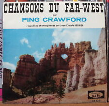 PING CRAWFORD CHANSONS DU FAR WEST FRENCH EP DISQUES BAM