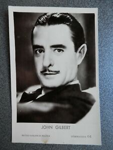 JOHN GILBERT ACTOR METRO GOLDWYN MAYER  POSTAL FOTOGRÁFICA ANTIGUA