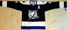2001 Vincent Lecavalier Tampa Bay Lightning Black Jersey Size Men's Medium