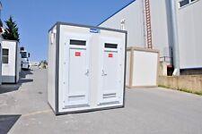 Sanitärcontainer mit WC + DUSCHE + 2 Waschbecken Toilettenkabine 135x210cm NEU