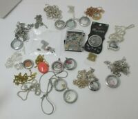 Origami Owl Huge Lot Preowned Lockets Charms Necklaces
