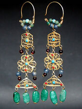 Nomades Argent Plaqué or Boucles d'oreilles Afghan Kuchi silver gilded Wedding Earring n12