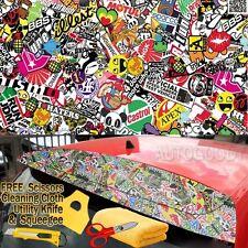"""60"""" x 60"""" JDM illest Stickerbomb Graffiti Cartoon Vinyl Film Wrap Sticker Decal"""