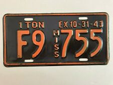 1943 Mississippi Truck Commercial Pickup License Plate Glossy Ford Dodge Chevy