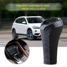 6 Speed Gear Shift Knob Stick Head For BMW E90 E91 E92 X1 X3 X5 X6 Carbon Fiber