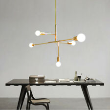 5 Gold Metal Lights Pendant Chandeliers Modern Industrial Ceiling Fixtures