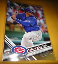 MARK ZAGUNIS, GOLD ROOKIE CARD, 2017 TOPPS UPDATE SERIES #US221, CHICAGO CUBS