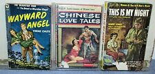 Vintage Books - Lot of 3  Pulp Paperback Books - Chinese Love Tales and More
