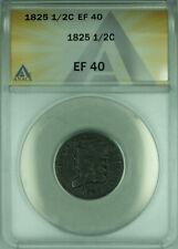 1825 US Classic Head Half Cent 1/2c ANACS XF-40
